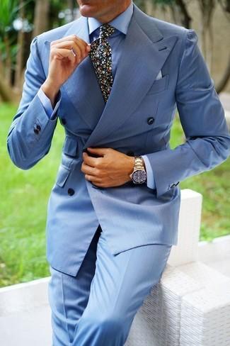 combinar un pantalón de vestir celeste
