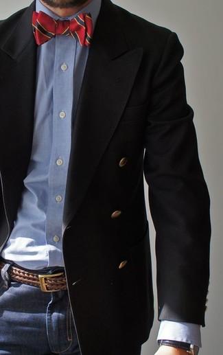 Correa de cuero tejida marrón de Brunello Cucinelli