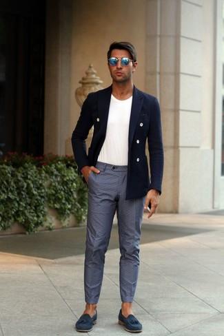 Blazer cruzado azul marino de Calvin Klein