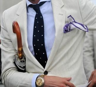 Camisa de vestir de rayas verticales en blanco y azul de Bagutta