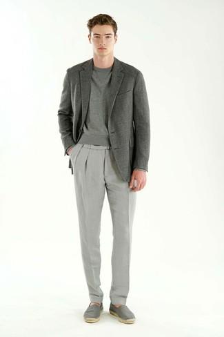 Blazer gris de Selected Homme