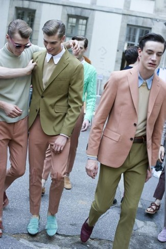 Pantalón de vestir verde oliva de Tommy Hilfiger