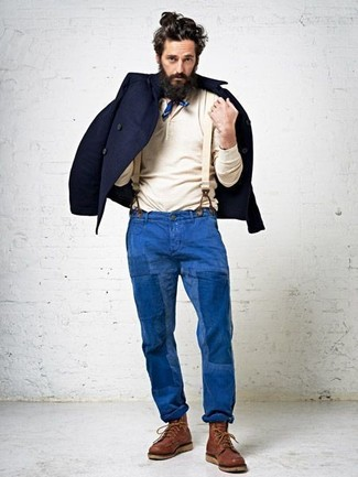 Blazer de lana azul marino de Lanvin