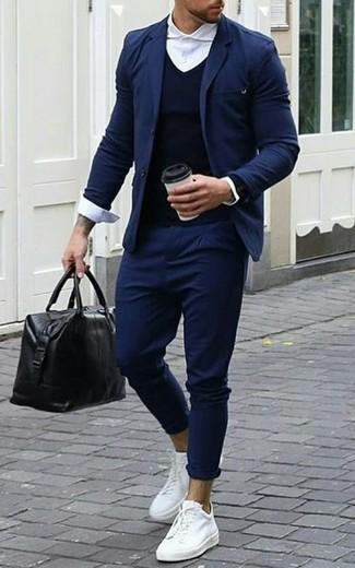 Jersey azul marino de Hackett London