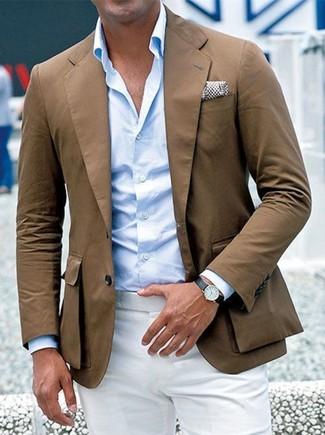 Un pantalón de vestir de vestir con una camisa de manga larga ... f1395f234085