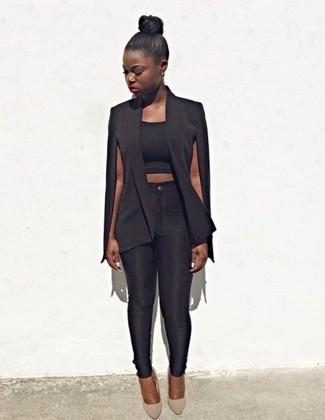 Pantalones pitillo negros de A Gold E