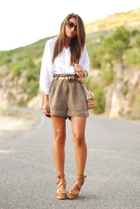 En Moda Pantalones Combinar De Beige71 Cómo Unos Cortos Looks 3JlTFK1c