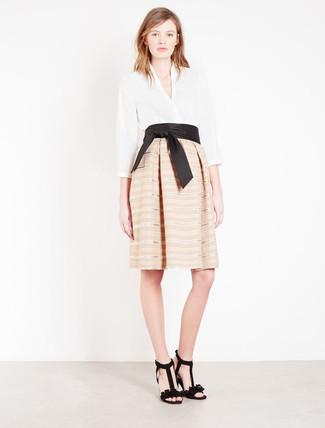 43001c505 Cómo combinar una falda campana en beige (19 looks de moda) | Moda ...