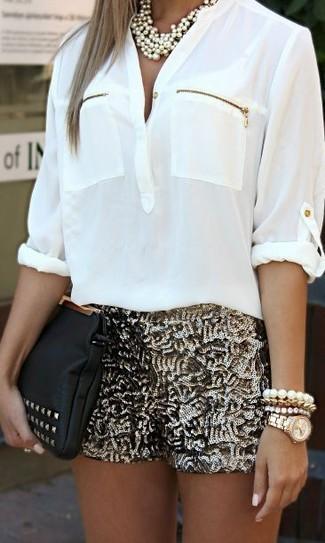 Blusa de manga larga blanca de Haider Ackermann