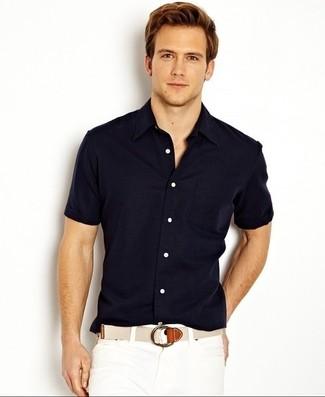 Camisa de manga corta azul marino de Volcom