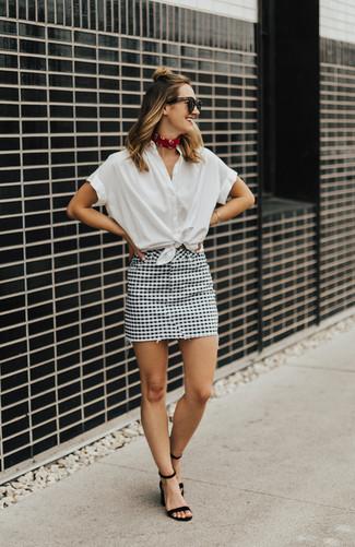 fa24a4fdb2 Cómo combinar una falda a cuadros en verano 2019 (3 looks de moda ...