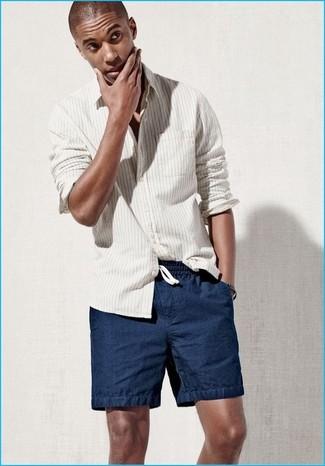 Pantalones cortos azul marino de Maison Margiela