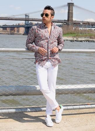 Tenis de cuero blancos de DSQUARED2