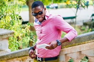 Camisa de manga larga rosada de Gant