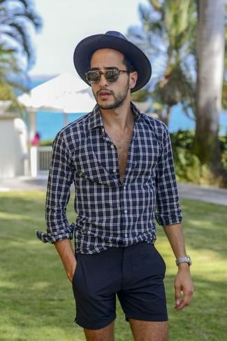 Sombrero de paja azul marino de ASOS DESIGN