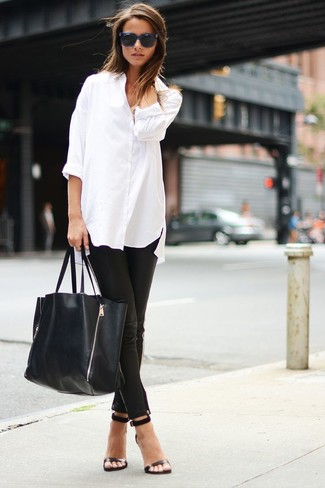 fecha de lanzamiento: 7ce30 82760 Look de moda: Camisa de vestir de gasa blanca, Pantalones ...