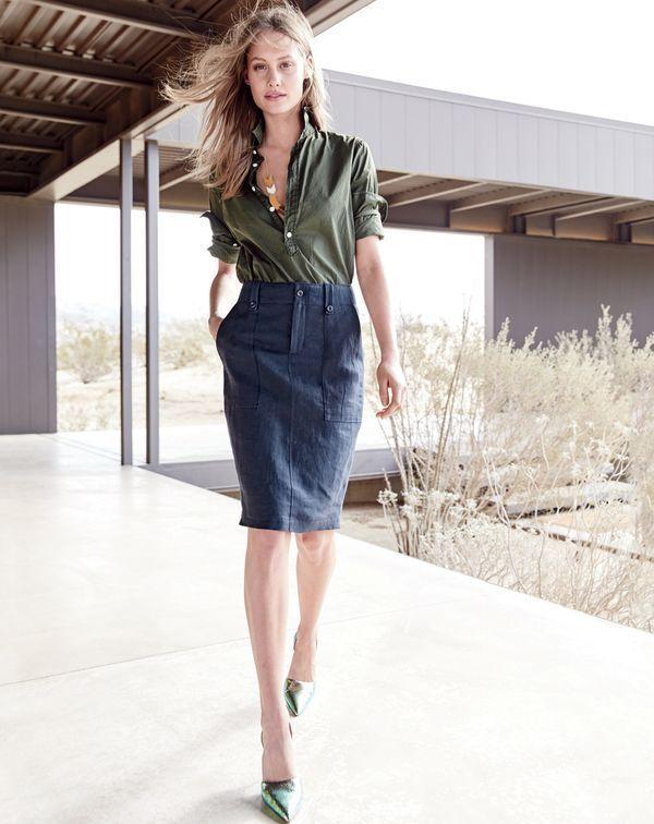 Zapatos verde oliva formales para mujer rIXQh
