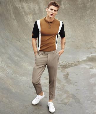 Cómo Combinar Un Pantalón De Vestir A Cuadros Marrón 9