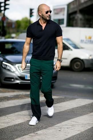 Pantalón chino verde oscuro de Boss Orange