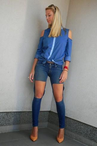 Camisa vaquera azul de Calvin Klein Jeans