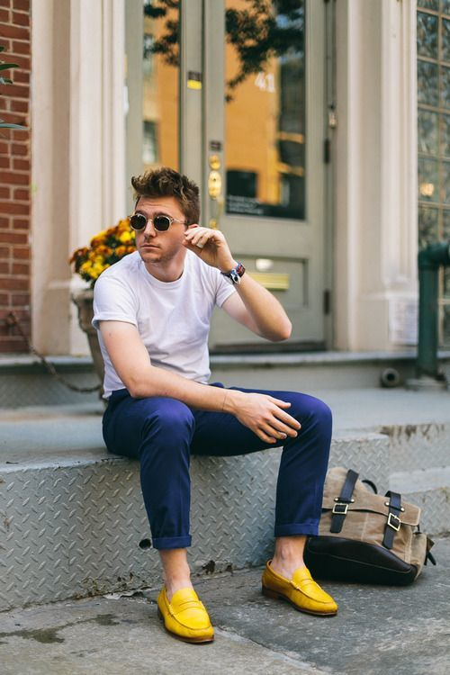 Resultado de imagen para zapatos amarillos outfit