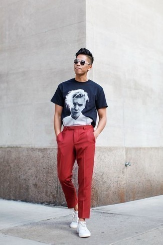 Como Combinar Un Pantalon Chino Rojo 251 Outfits Lookastic Espana