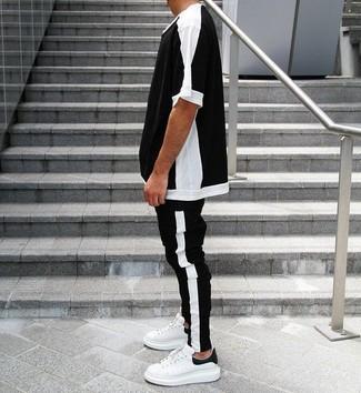 c093c413265a2 Cómo combinar un pantalón de chándal en negro y blanco (122 looks de ...