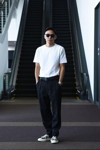 Pantalón chino negro de Hugo
