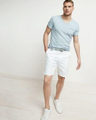 Tenis de cuero blancos de Nike