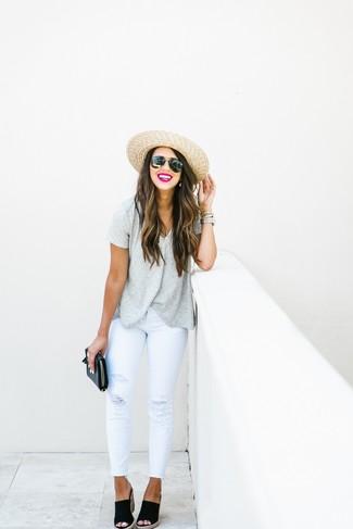 De Cómo Con Moda Combinar Cuña Unas Sandalias Looks Negras54 354jARqL