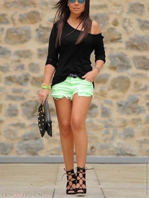 002c5eb802dea Cómo combinar unos pantalones cortos en verde menta (14 looks de ...