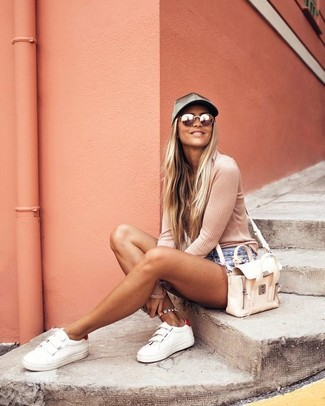 Bolso bandolera de cuero en beige de See by Chloe