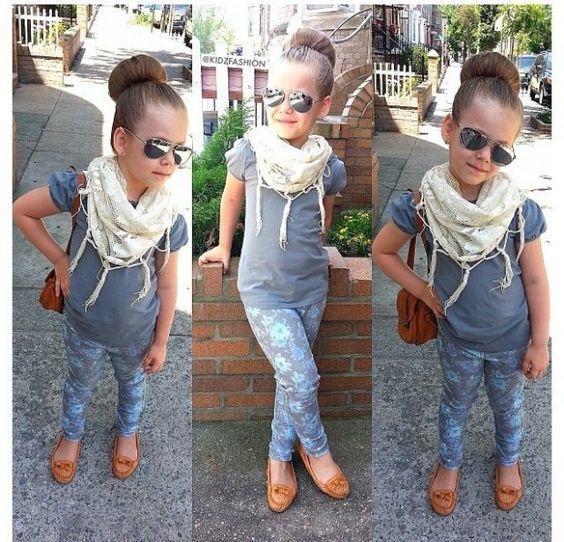 731597a02 Cómo combinar una camiseta gris (18 looks de moda) | Moda para Niñas ...