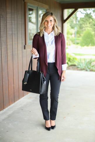 Cómo Combinar Un Pantalón De Vestir Negro 154 Looks De Moda