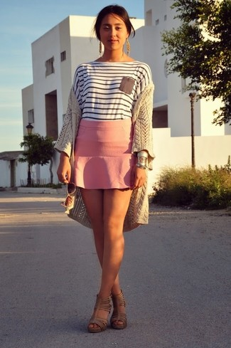 Minifalda rosada de Valentino
