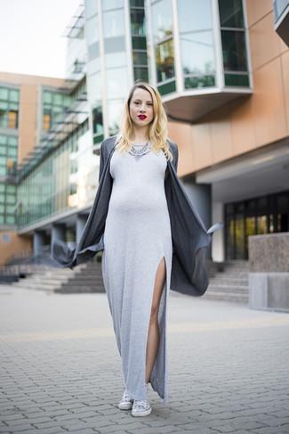 0a5e2c3c7 Cómo combinar un vestido largo en gris oscuro (19 looks de moda ...