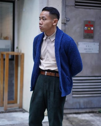 Pantalón chino verde oscuro de Asos