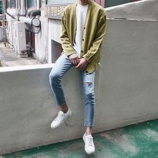 Jersey en amarillo verdoso de Stedman Apparel