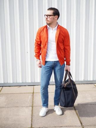 Bolsa tote de lona azul marino de Jimmy Choo