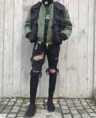 Zapatillas altas de lona negras de adidas