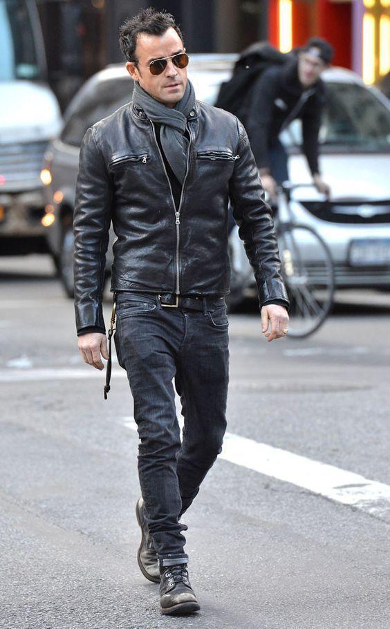 Cómo combinar una chaqueta de cuero negra con unas botas negras (41 ...