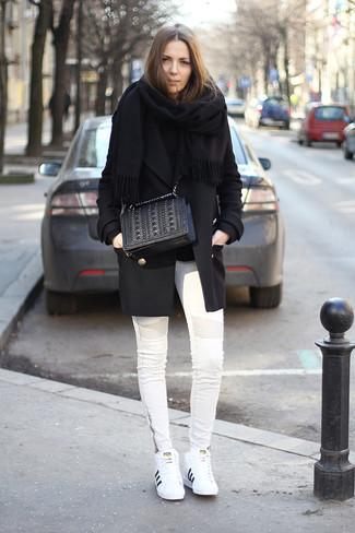 Tenis de cuero blancos de Prada