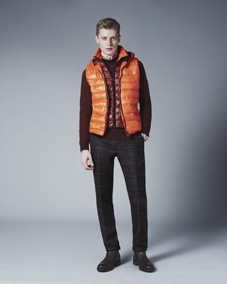 Jersey con cuello circular burdeos de Tom Tailor Denim