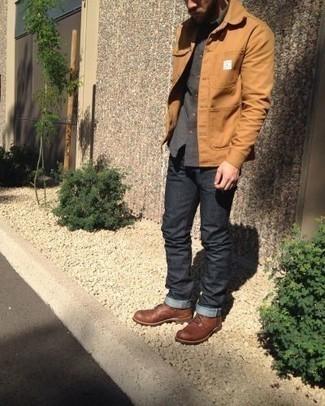 Chaqueta marrón claro de Boss Orange