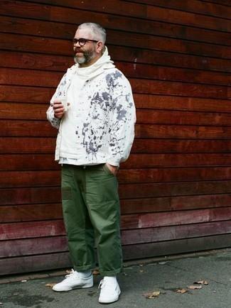 Sudadera con capucha blanca de erima