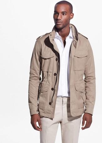 Cómo combinar una chaqueta militar marrón claro (8 looks de moda ... c22cbe19b7483