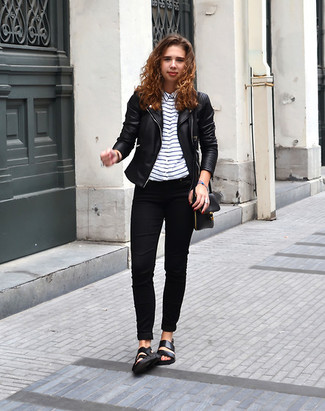 Como combinar chaqueta negra