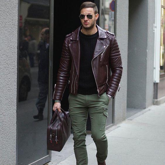 de una Moda motera Cómo combinar 6 looks moda chaqueta burdeos Z06aHSWwq