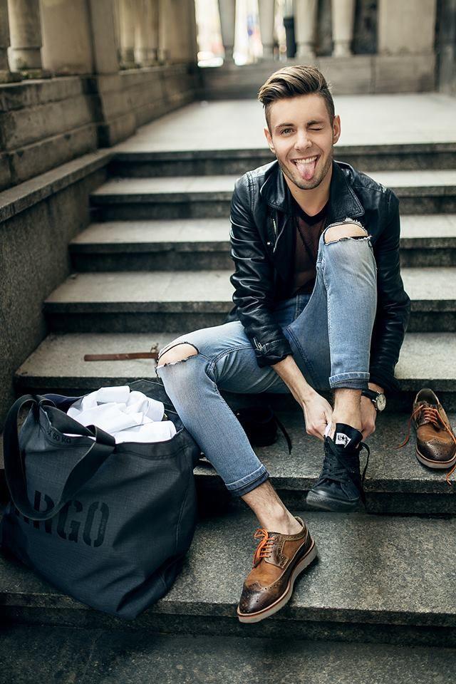 Zapatos para combinar con chaqueta de cuero hombre