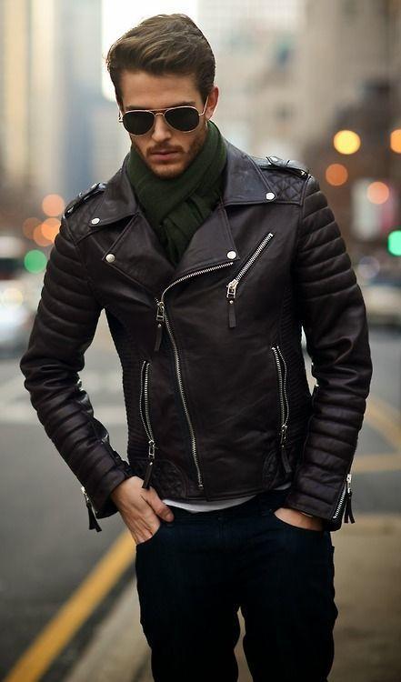 Formas de usar una chaqueta de cuero hombre